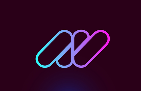 AV A V pink line joined alphabet letter combination suitable as a logo icon design for a company or business