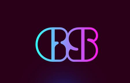 GS G S pink line joined alphabet letter combination suitable as a logo icon design for a company or business Illusztráció