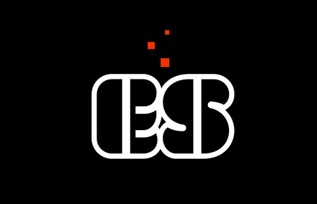 ES E S black white red dots alphabet letter combination suitable as a logo icon design for a company or business