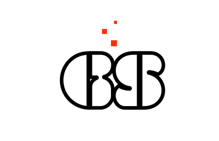GS G S black white red dots alphabet letter combination suitable as a logo icon design for a company or business