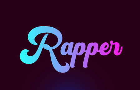 Rapper pink word or text suitable for card icon or typography logo design