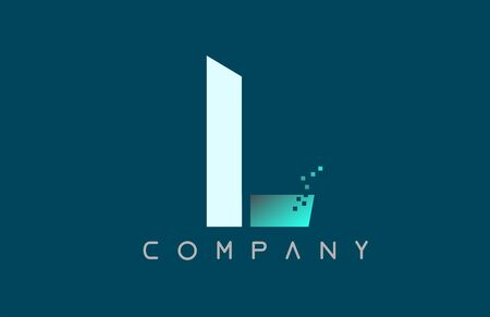 blue alphabet letter L logo design suitable for a company or business