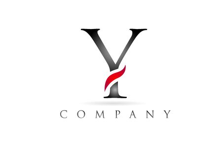 white red alphabet letter Y logo design suitable for a company or business