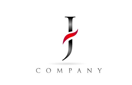 white red alphabet letter J logo design suitable for a company or business