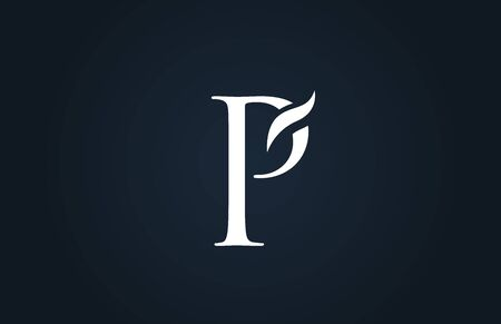 white blue alphabet letter P logo design suitable for a company or business
