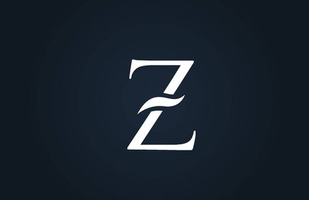 white blue alphabet letter Z logo design suitable for a company or business Ilustração