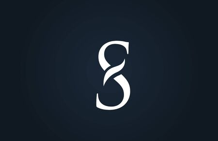 white blue alphabet letter S logo design suitable for a company or business