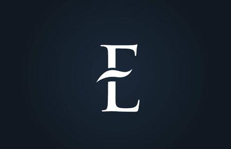 white blue alphabet letter E logo design suitable for a company or business