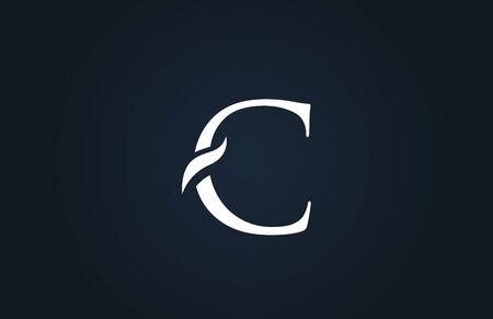 white blue alphabet letter C logo design suitable for a company or business