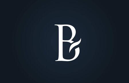 white blue alphabet letter B logo design suitable for a company or business Ilustração