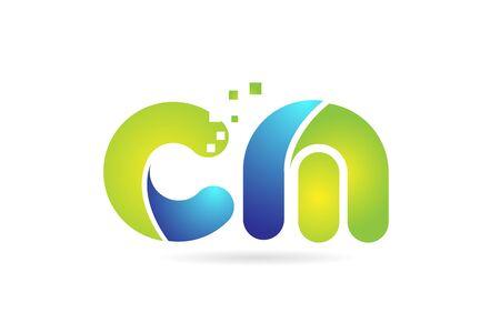 cm c m blue green alphabet combination letter logo design suitable for a company or business