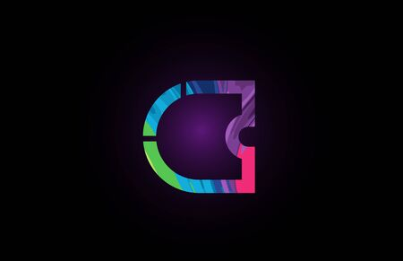 c colored alphabet letter for company logo icon. Suitable as logotype for a company or business