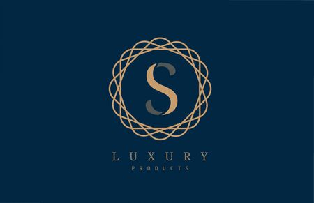 luxury letter S alphabet for company icon design. Suitable for a corporate or business design