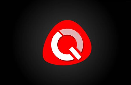 red Q white alphabet letter  for company  icon design. Suitable for a corporate or business design