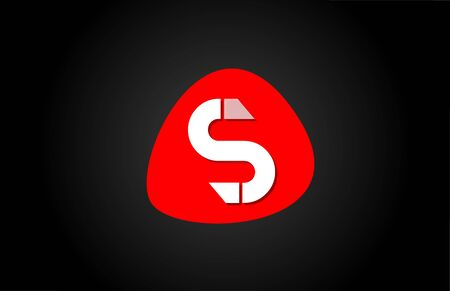 red S white alphabet letter for company  icon design. Suitable for a corporate or business design