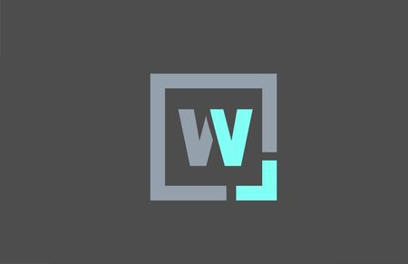 grey letter W alphabet logo design icon for business. Suitable as a logotype