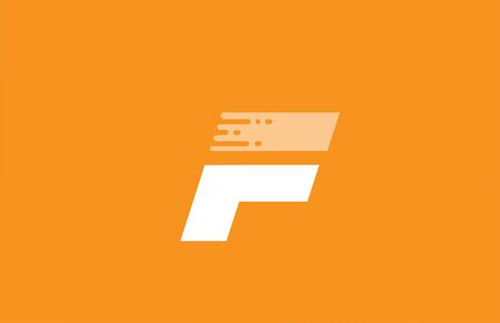orange white alphabet F letter design icon for company and business. 向量圖像
