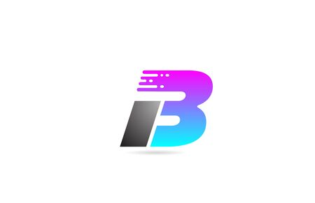 alphabet letter B design icon for business and company in black grey and pink. 向量圖像