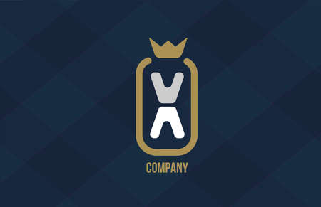 X king crown alphabet letter logo for company and corporate. Blue white design. Can be used as an icon for a luxury brand