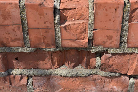 Background of red brick texture