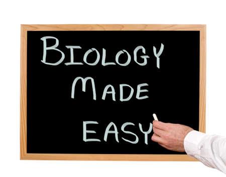 Biology made easy is written in chalk on a chalkboard