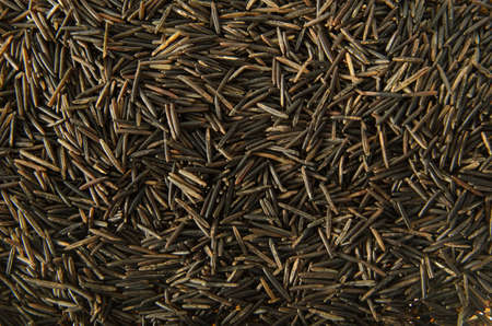 A background image of wild rice grains