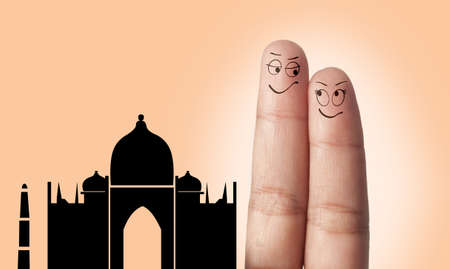 A finger couple dream to travel in India