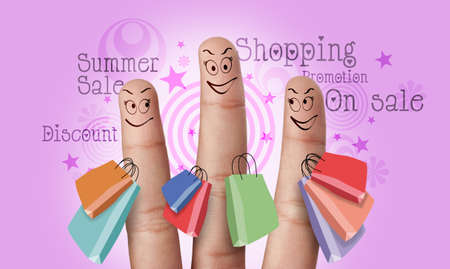 A groupe of finger make shopping