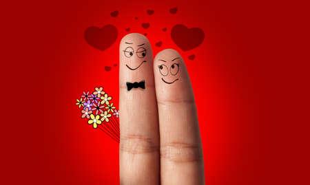 suitor: una coppia dito in amore