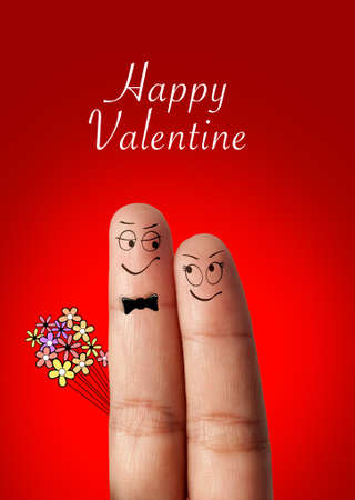 a finger couple in love Stock Photo