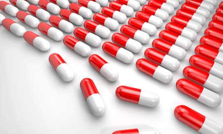 soporific: 3d gelatin capsules on a white background