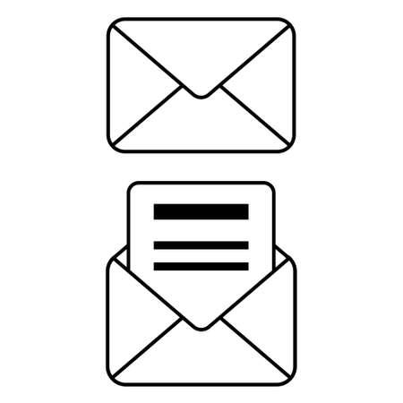 Envelopes vector illustration on white background.