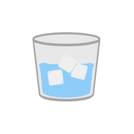 A glass of water vector illustration.
