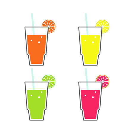 Juice vector illustration isolated on white background.