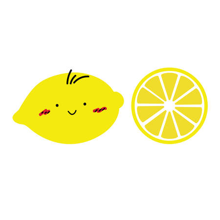 Lemon is so cute vector illustration.