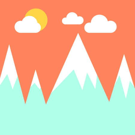 Mountain vector illustration.