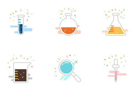 6 Science icons vector eps10 Stock Vector - 127522849
