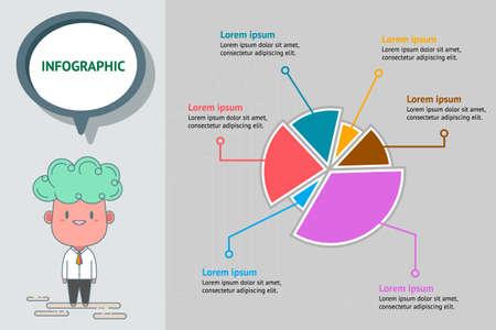 Infographic chart vector eps10 Stock Vector - 127491550