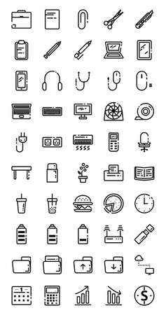 50 icons for web Stock Vector - 127491551