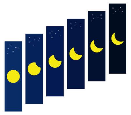 Moon Phenomenon vector eps10 Illustration