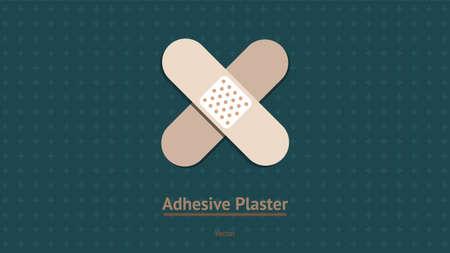 Adhesive plaster vector eps10 Illustration