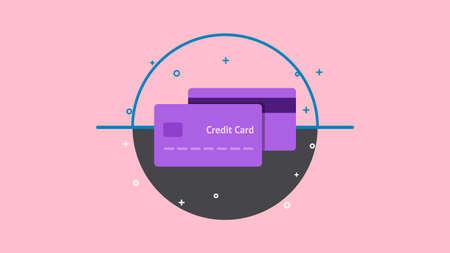 Credit Card Graphic Design icon vector