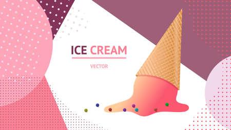Ice cream graphic design illustration vector