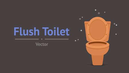 Flush Toilet Graphic Design Vector Illustration