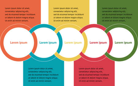 Many color Infographic design in illustrator for meeting