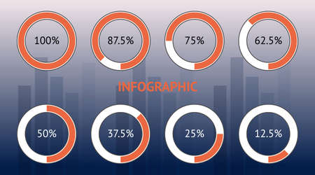 Infographic design in illustrator for meeting