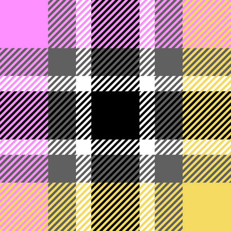 Plaid or tartan vector is background or texture in many color Stock Vector - 125784117
