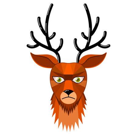 hand print: Deer head painted ginger brown