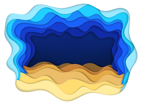 Vector illustration of sea bottom and sand waves