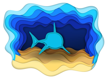 formidable: Vector illustration of a formidable shark on the hunt